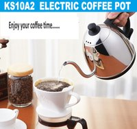 Wholesale 1 L Hot sale High quality small coffee pot Electric water pot with long spout base on UL Standard SJT plug