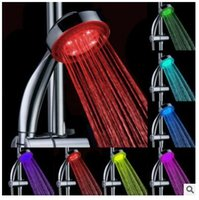 Wholesale LED showerhead shower colorful led color change from self generation handheld shower gift shower round luminous natural color