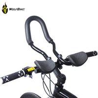 aero bmx - Road Aluminum Alloy Triathlon Aero Handlebar Bar Ends Rest Handle Bar for BMX Mountain Bike Road Bicycle