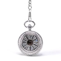 antique steel wheels - Luxury Silver Sailor Wheel Hollow Case Stainless Steel Simple Arabic Numbers Dial Whitle Hand Wind Mehchanical Pocket Watch Mixed