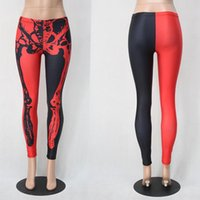 animal experts - Red Black Skeleton Underpant Long term Supply Commodity Halloween Expert For sport womens pants woman pantyhose fall skinny leggings