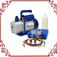 air conditioning vacuum pump - 1 HP CFM Vacuum Pump Set with R134a HVAC Manifold Gauge Air Condition Kit
