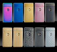 electric gas - Cigarette lighter Smoking Accessories Electric Arc Windproof Rechargeable Flameless No Gas Metal Pulse USB Lighters with box