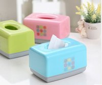 Wholesale Candy color paper towel box drawn paper towel box car paper towel box dining table napkin box special offer