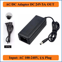 Wholesale 24V A AC DC Adapter US Plug Adequate AC100V V Converter to DC V W Power Supply mm x mm Charger for LED Strip