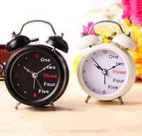 Wholesale Fashion Retro Twin Bell Table Alarm Clock with Night Light