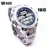 Wholesale 16G Watch Hidden Spy Camera H fps Motion Detection HD P Wrist Watch Pinhole DVR DV Digital Video Recorder WMS D16
