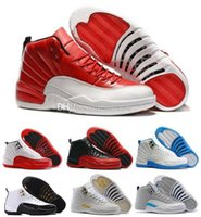 athletics games - 2016 air retro S XII flu game Gym red ovo white taxi Playoffs Wolf grey men Basketball shoes athletics Sports Sneakers shoes
