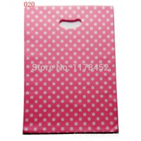 Wholesale ewelry Watch Jewelry Packaging Display x20cm Pink White Point Gift Bags Plastic Boutique Pouches Shopping