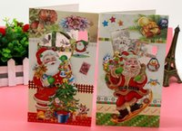 Wholesale Christmas CARDS Creative carving children holiday card stereoscopic pattern