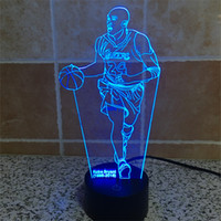 Wholesale Hot LED Table Lamp Basketball Star Bedroom Night Light Acrylic Basketball Lamp Dark World of Home Decoration Light D TD35