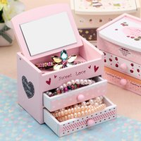 Wholesale New Arrival Sundries Wood Storage Drawers Broken beautiful little pure fresh and jewelry box Box Drawer Makeup Organizers