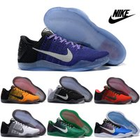 sporting goods - Nike Kobe XI Elite Low Basketball Shoes Men Retro Kobe Purple White Sneakers Good Quality Original Discount Sports Shoes Free Shipp