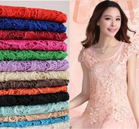 Wholesale Cheap Tops High Quality Mix Color Water Soluble D African Lace Venice Lace Dress Fabrics Wedding Dress Fabrics HY1182