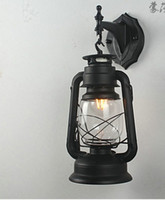 Wholesale The kerosene lamp wall lamp wall LED light bar balcony aisle European retro decorative lighting reminiscent of iron lantern