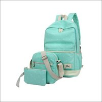 big laptop bags - fresh Canvas Women Backpack big girl student book bag with purse laptop set bag high quality ladies school bag for teenager