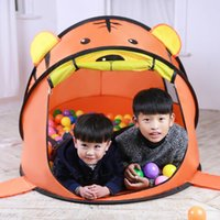 beach ball pop - CM Ultralarge pop up play tent for kids indoor play tent house cartoon baby game house toy balls house beach tent ZP39