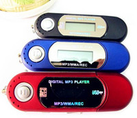Wholesale DHL fast REAL GB MEMORY AAA battery USB Digital mp3 Players Voice recorder FM radio lcd screen