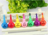 Wholesale Stationery Colorful Watercolor Brush Smiley Cartoon Smile Pens Pencil Marker Children Gourd Toys Gifts Colors Painting Pen