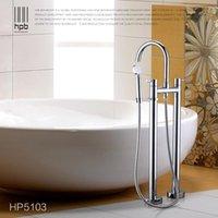 Wholesale Han Pai Floor Mounted Brass Bathroom Hot and Cold Water torneira Shower Bath Mixer Faucet Set torneira banheiro HP5103