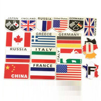alloy dodge - Alloy Flag Car stickers logo Car Styling For Cadillac Buick Chevrolet Lincoln Chrysler Jeep Dodge Focus
