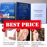 Wholesale Stop Smoking Magnet Pad Patch Health Care Ear Retail Pkg Free Fedex Shipping