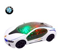 Wholesale The new style BMW the luminous music LED toys children toy car model children festival birthday gift