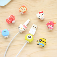 Wholesale USB Lightning Data Charger Cable Silicone Saver Protector Headset Protection Earphone Wire Cord Protective For iPhone SE S S Plus