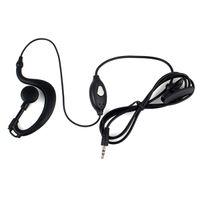 radio earpiece - Walkie Talkie Headset intercom black New Pin mm Jack PTT MIC Earpiece for RETEVIS RT RT Two Way Radios