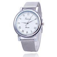 Wholesale Vansvar Women Silver Watches Fashion Geneva Watches Ladies Casual Wrist Watch Quartz Watch Relogios Feminino Dames Horloges