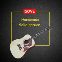 Wholesale DOVE acoustic guitar Solid Spruce top Rosewood fingerboard inch acoustic electric guitar in stock guitars