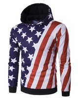 american flag sweater men - The new men s fashion personality American flag oblique striped star printed sweater WT287 higyyyyyh quality factory outlet