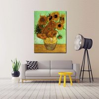 artwork reproductions - LK130 Sunflower by Vincent Van Gogh Oil Paintings Reproduction Modern Floral Giclee Canvas Prints Artwork Flowers Pictures On Canvas Wall Ar