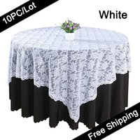 Wholesale 10PC Table overlay quot Lace table overlay for weddings Lace tulle Fabric Table Cover Cloth table overlay of Wedding in Event Party Supplies