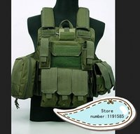 Wholesale Tactical Molle Combat Carrier Nylon CIRAS HEAVY DUTY ARMOR Vest Green
