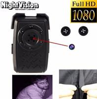 Wholesale 1920 T5 Night Vision Button Pinhole Camera Mini DV Security Camcorder DVR Video Recorder