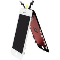 Wholesale DHL original iphone LCD Display Touch Screen panels Grade A Black White Digitizer Full Assembly for iPhone