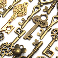 Wholesale New Arrivals Mixed Key Charms Antique Bronze Plated Alloy Pendant Jewelry Findings