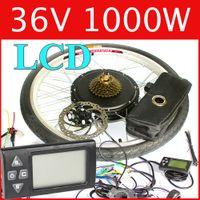 Wholesale 36V W LCD Electric Bike Disc brake kit DC hub motor conversion kits ebike kits Front wheel or rear wheel