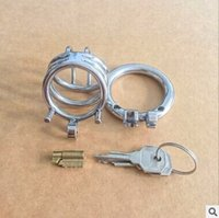 Cheap 2016 Latest Design Male Stainless Steel Cock Penis Cage Chastity Belt Device Cock ring BDSM Sexy toys