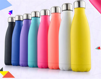 Wholesale 10 Colors Vacuum Cup Coke bottle ML which enable creative stainless steel vacuum keep warm glass cup Can be customized logo