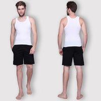 Wholesale Fitness Men Tank Tops Cotton Basic Singlet Bodybuilding Sport Undershirst Sliming Clothes Gym Vest Muscle Crop Top Plus Size