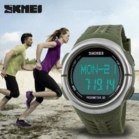 analog monitors - SKMEI Heart Rate Monitor watch pedometer Sport LED watches for men women m waterproof digital watch sports calorie counter Wristwatch