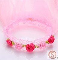 Wholesale Hot Sales Kids Headdress Girls Floral Head Wreaths Kids Styles Kids Head Bands Floral Head Pieces D