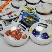asian style clothing - New Styles Cute mm Diameter Finding Dory Cartoon Buttons Pins Badges Round Badges Party favor Kids Gifts Clothes Decoration
