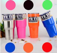 Wholesale Hot sell oz Stainless steel vacuum mug cup summer explosion models selling colored yeti mug