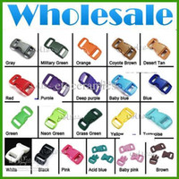 Wholesale Mixed Colorful quot Plastic Buckles Contoured Curved for paracord Bracelets lots5000