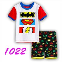 batman character costumes - Kids Spiderman Superman Pajamas Batman Minions Flash Costume Sleepwear Ironman Sleepsuit Avengers Superhero Homewear Pyjamas Outfit A816