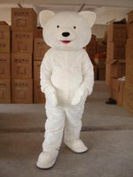 best cartoon images - Actual Image Best Selling Cute White Bears Fancy Cartoon Mascot Costume Adult Size