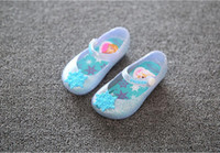 Wholesale 2016 Mini Melissa Frozen Girl Sandals Elsa Jelly Sandals Flat Shoes Kids Shoes Girl s Shoes Princess toddler Girl Frozen Flats